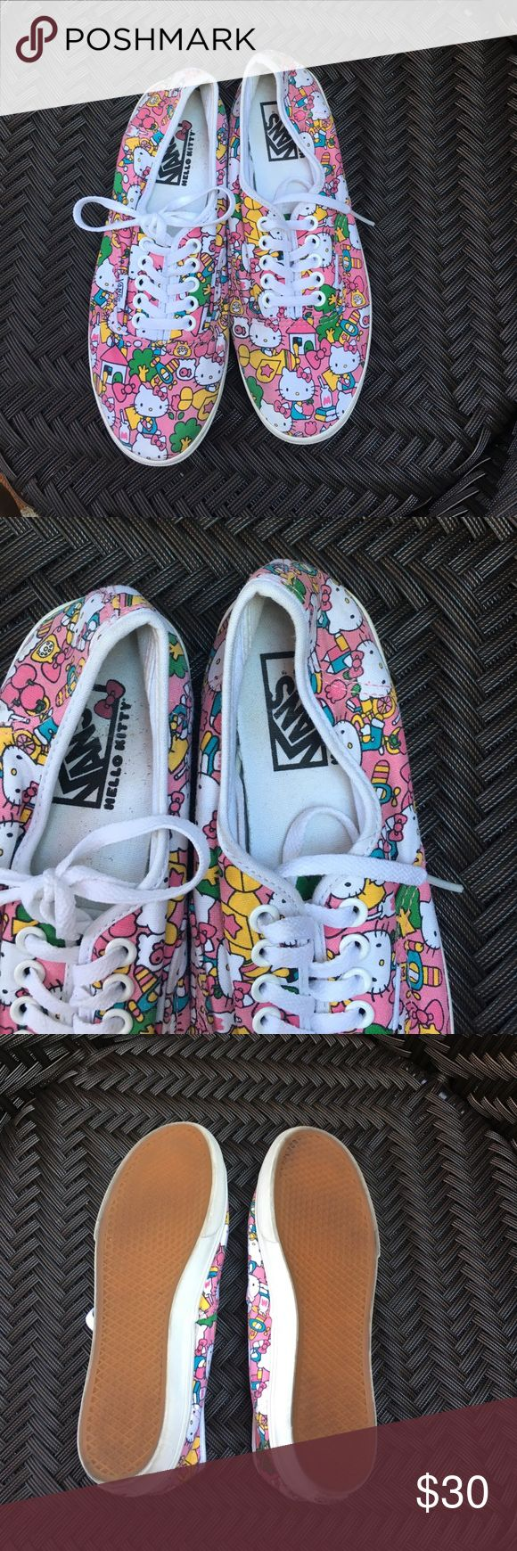 Hello kitty vans 6.5 Hello kitty pink vans size 6.5 worn once Vans Shoes Sneakers