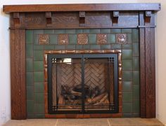 small gas fireplace arts and crafts mission google search - Moderner Kamin Umgibt Kaminsimse