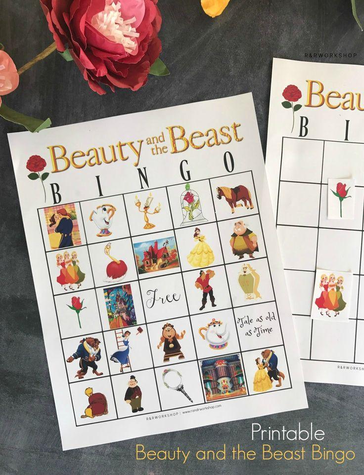Free Printable Beauty and the Beast Bingo Game!