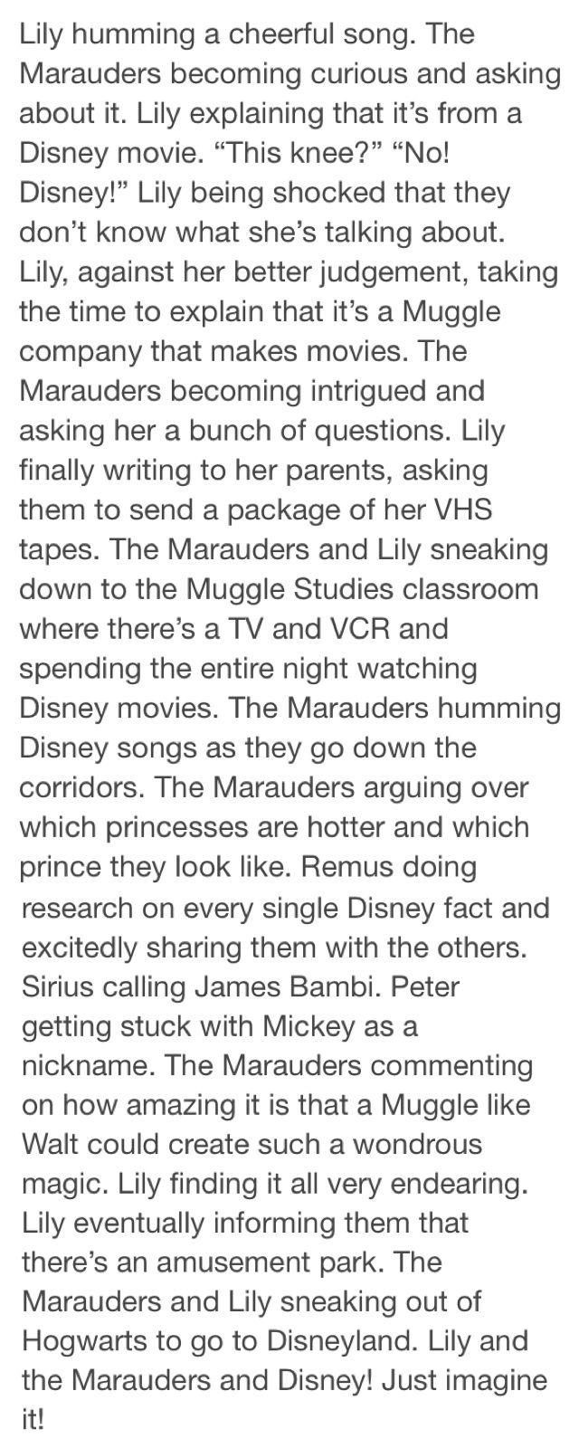 Disney Marauders Headcanon