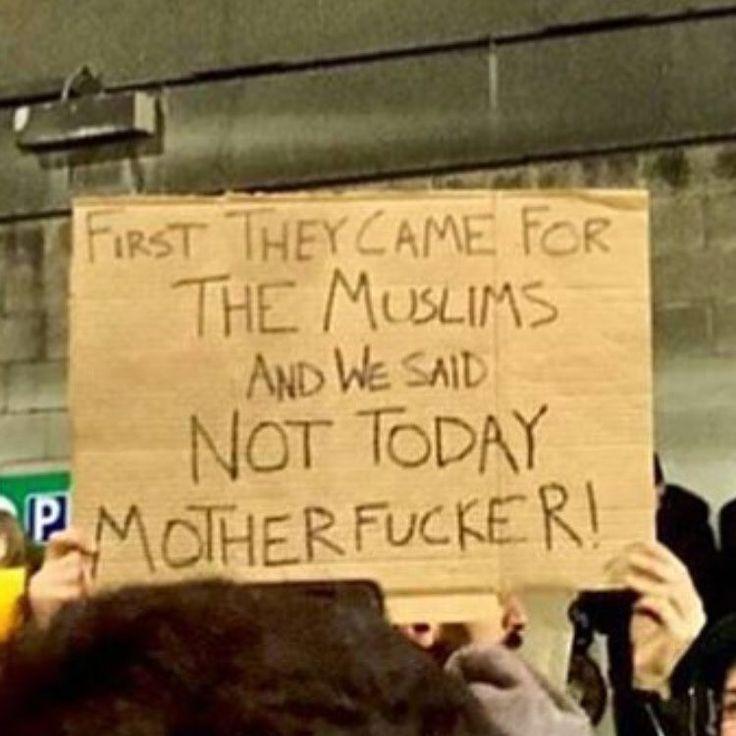 💪💪💪Credit @zara.lone #muslimban #refugeeban #refugees #refugee #refugeeswelcome #usa #america #trump #donaldtrump #syria #yemen #iran #iraq #libya #somalia #sudan #islam #muslim #umma #humanrights #justice #blacklivesmatter #berniesanders