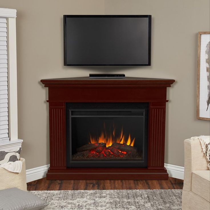 Real Flame Kennedy Grand 56 In Corner Electric Fireplace In Dark