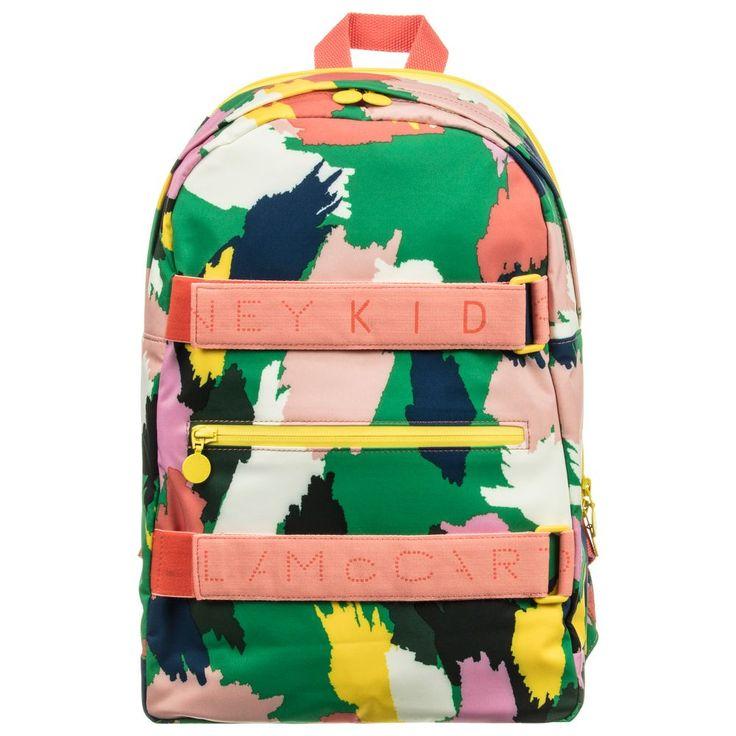 http://www.childrensalon.com/#a_aid=51f456f914eb5 Stella McCartney Kids - Girls Pink Camo Backpack | Childrensalon