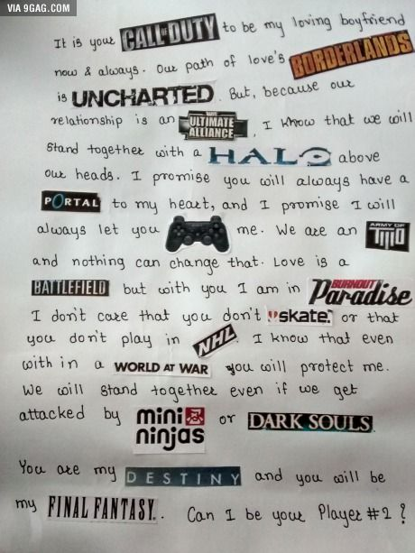 Best love letter ever! omg this is amazing i love this soooooo much