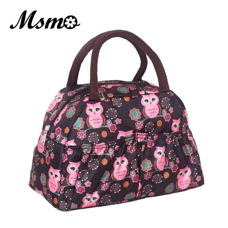 MSMO 2017 new fashion lunch bag women handbags women bags waterproof printed lunch box lunch bag for kids picnic bag 22 Colors