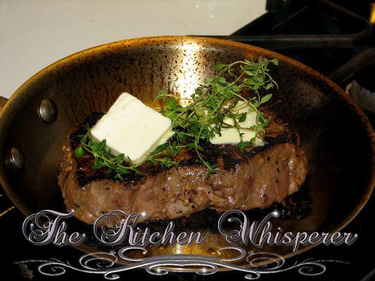 The Kitchen Whisperer Better than restaurant quality New York Strip Steak ready for the oven