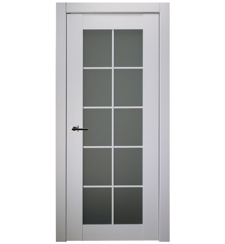 Belldinni Sp10l Pw Smart Pro 10 Lite Interior Door In Polar White Finish With Frosted Glass Doors Interior Interior White Finish
