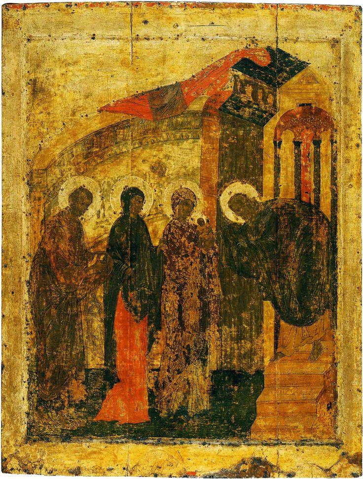 Праздничный чин Благовещенского собора. Рублев. Сретение