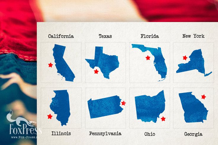 US State Rubber Stamp. Any State in the USA. Size: by TheFoxPress
