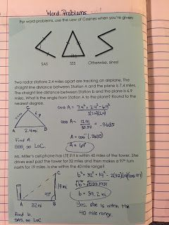 misscalcul8: Trig Unit 5: Law of Sines and Cosines Interactive Notebook