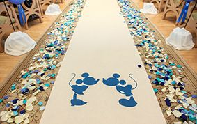 | Disney Fairy Tale Weddings and Honeymoon Ever After Blog | Custom aisle runners to add some additional Disney magic to your wedding!