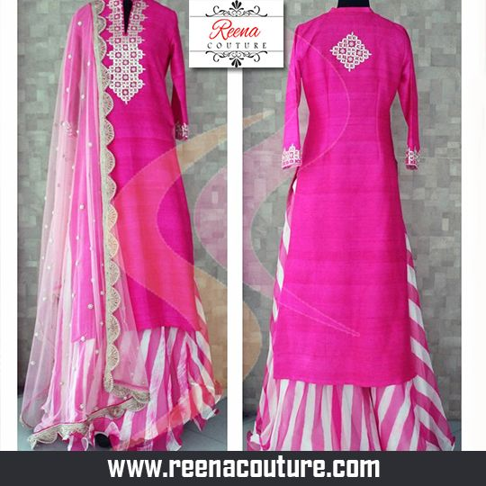 Semi formal Kurta and Lehenga set with Kurta having silky base mirror work and chiffon Lehenga net Dupatta. For more details please call or whatsapp on 09819416785 or share your number we will call you. http://www.reenacouture.com/ #gownsforcheap #designerdressesforcheap #designer #dresses #for #cheap #discounted #sale #customized #western #dress #bridal #replica #Bollywoodlook #plus-size #plus # size #xxxl #xxxxl #5xl #tailors #whole-seller #beautifulCollection #Celebrity #party…