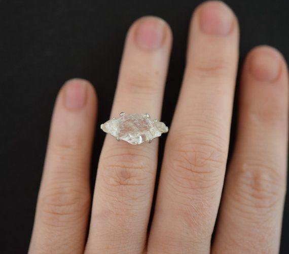 Diamond Engagement Ring Raw Diamond Engagement Ring Size by Avello