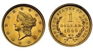 Gold one dollar value alert, values of the Gold one dollar, rare dates and most valuable proof Gold one dollar coins to buy.