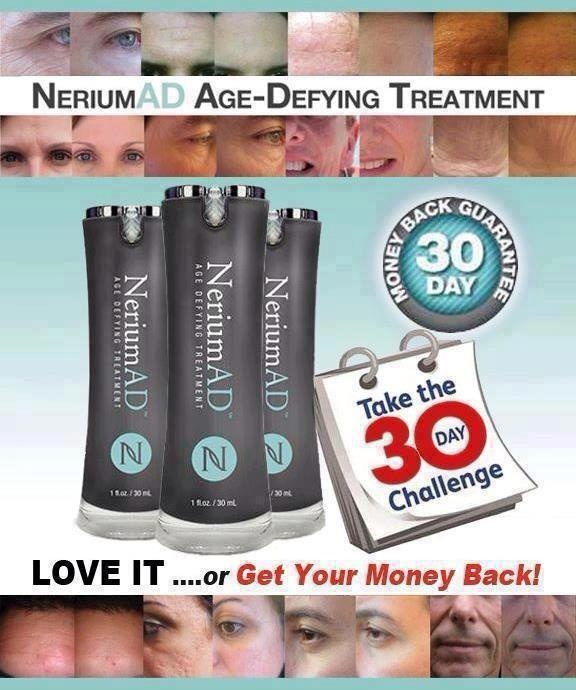 NeriumAD can change the way you look... 40 is the new 30 and 30 is the new 20... Prove it to everyone with one product.  Real Results!!!!