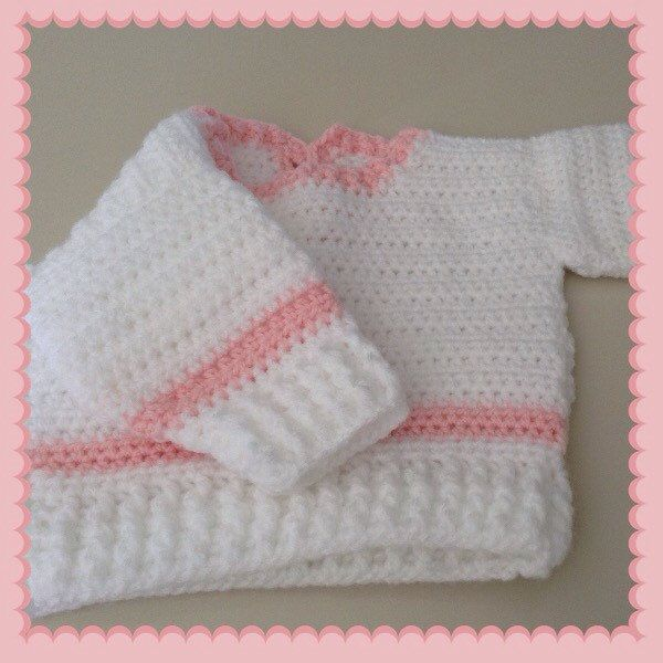 A personal favourite from my Etsy shop https://www.etsy.com/au/listing/262846737/baby-jumper