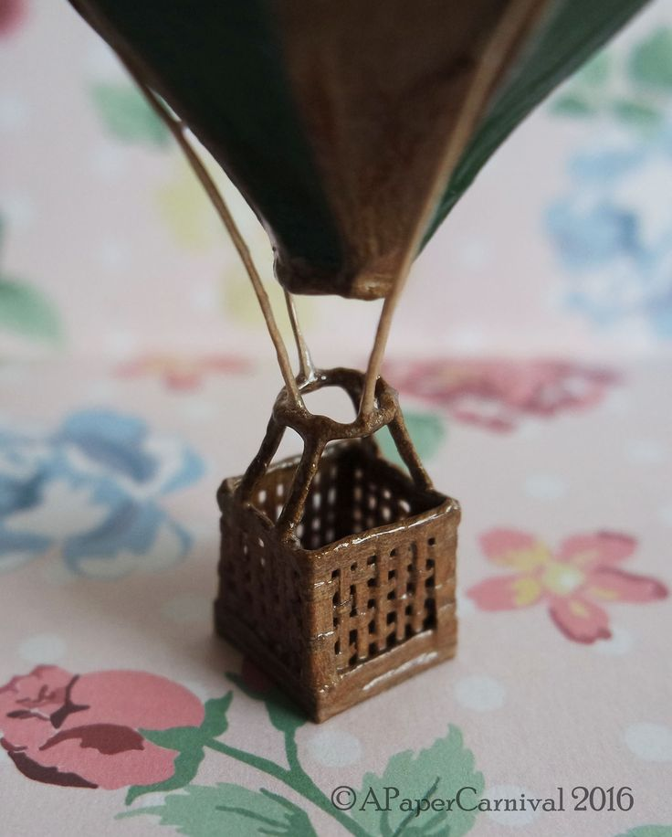 Handmade by Rachel Prout. A miniature vintage-style hot air balloon.