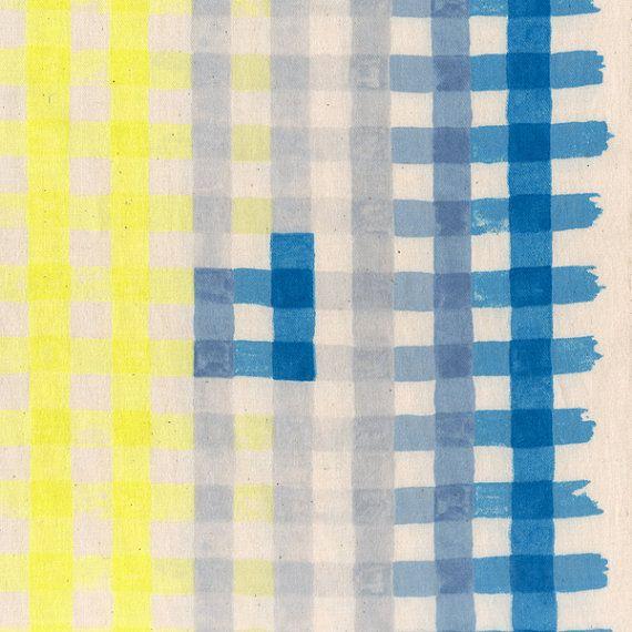 Kokka Nani Iro Japanese Fabric Painting Check