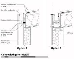 Image result for flat roof box gutter edge detail