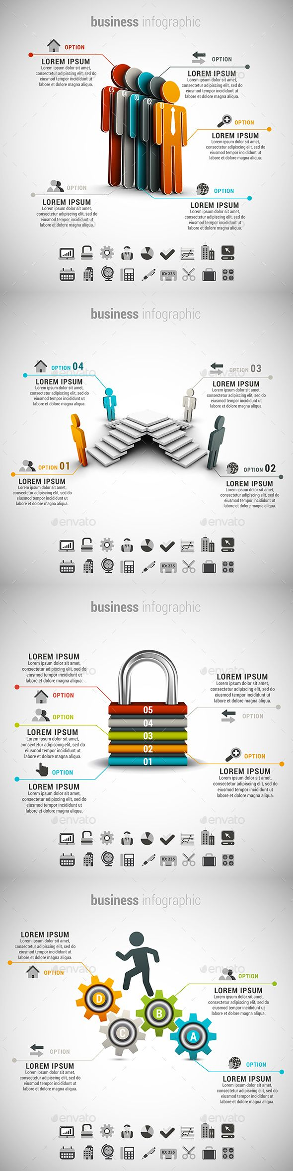 4 in 1 Business Infographics Template PSD, Vector EPS, AI Bundle. Download here: http://graphicriver.net/item/4-in-1-business-infographics-bundle/15099133?ref=ksioks