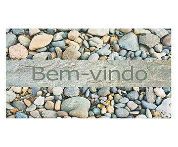 Capacho Bem-Vindo Pedras - 40X60cm