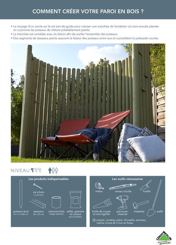 17 meilleures id es propos de panneau bois brise vue sur pinterest panneau cloture bois. Black Bedroom Furniture Sets. Home Design Ideas