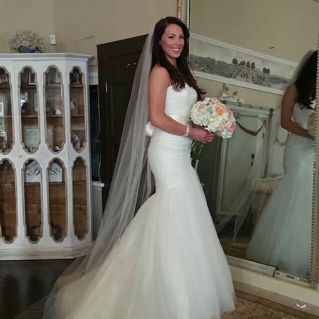 70480ac919f Mori lee 5108 .. I love my gown. Never wanted to take it off!!  morilee   peachwedding peach wedding mori lee cathedral veil twin oaks ho…