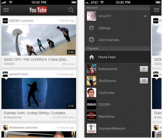 YouTube app update este disponibil in App Store