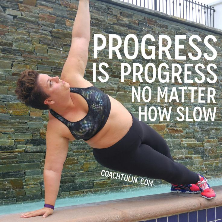 Progress is progress, no matter how slow. Your plus size journey to fit is your…