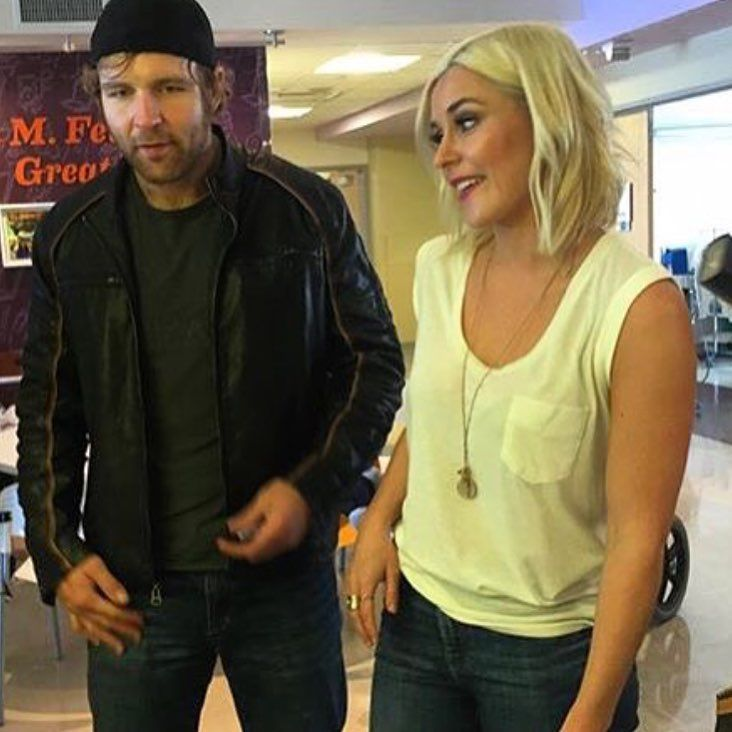 WWE Superstar Dean Ambrose and girlfriend backstage interviewer Renee Young