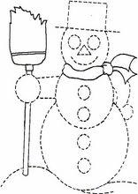 Imprimir actividades para niños. Grafomotricidad Unir puntos y pintar40