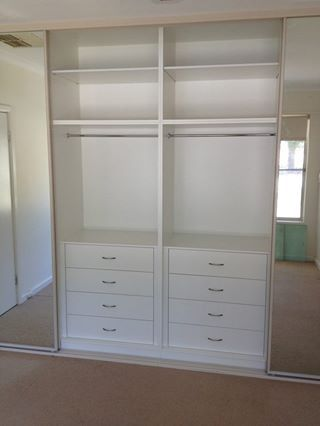 4 bank wardrobe with Stegbar sliding mirror doors