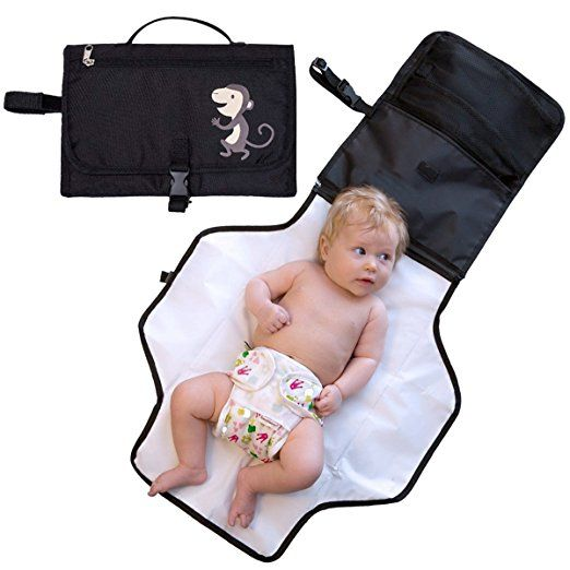 Diaper Changing Pad, Popsky Waterproof & Washable Portable Diaper Change Station for Outdoor Traveingl and Home