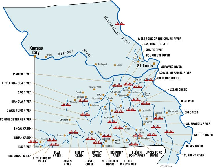Statewide River Map | Missouri Rivers | Floats, Canoes, Kayaks, Rafts