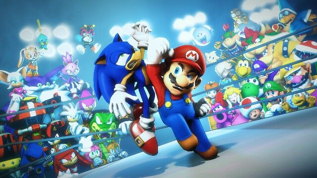 Sonic Vs Mario Ou Pinterest