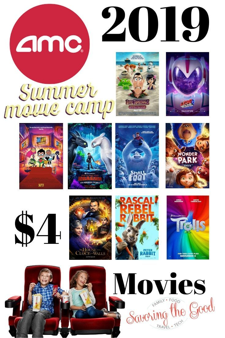 Amc Summer Movie Camp Is Here Check Out The Line Up Of Kid Friendly Movies On Wednesdays Admission Is Just 4 And Kid Friendly Movies Summer Movie Amc Movies