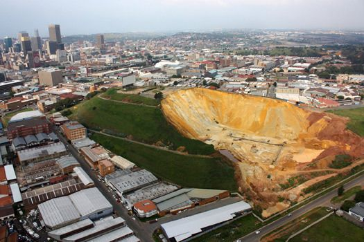 Johannesburg, S. Africa: A bustling city built around gold mines---Amazing!