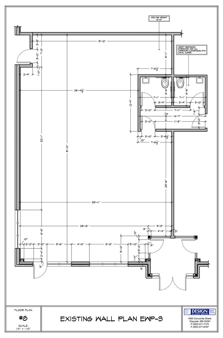 Design layout existing wall plan int pinterest for Coffee shop floor plan with dimensions