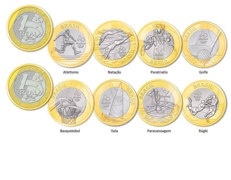 Set Lot 16 Coins All Brazilian Real Brazil 2016 Rio Olympic Summer Games Ed | eBay