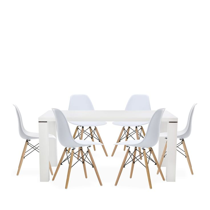 6 WOODEN Chairs Color Edition + 1 DIMER 160 Table, For the Home