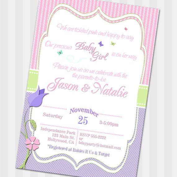 Butterfly baby shower invitation Butterfly shower by HelenaPrints