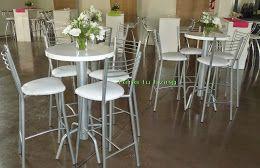 alquiler mesas y sillas altas para eventos