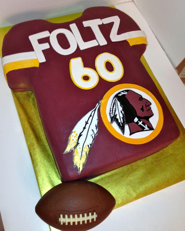 CakesbyKIrsten.  Washington Redskins jersey cake. #Redskins #WashingtonRedskinscake.
