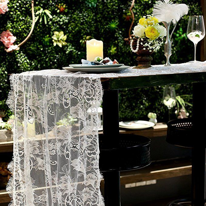 Vintage Summer Wedding Table Runner 30 X 120 Inch Premium White Lace Table Runner For Weddi Table Runners Wedding Bridal Shower Decorations Lace Table Runners