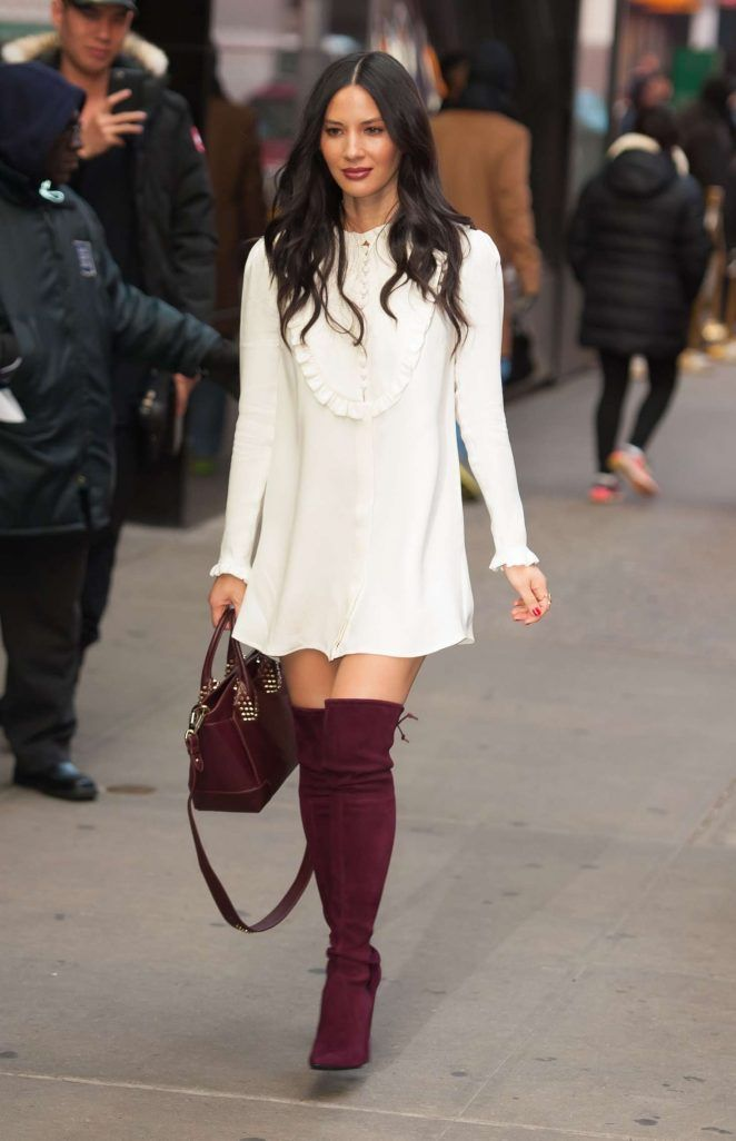 Famous & Celebrities — dailyactress:   Olivia Munn  Arriving at Good...