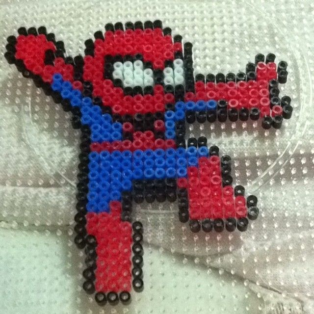 Spiderman perler beads by singlesusu