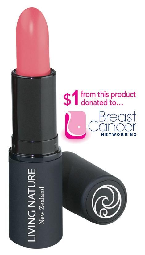Lipstick - Bloom | Living Nature  NZ$1 donated to Breast Cancer Network NZ from every sale