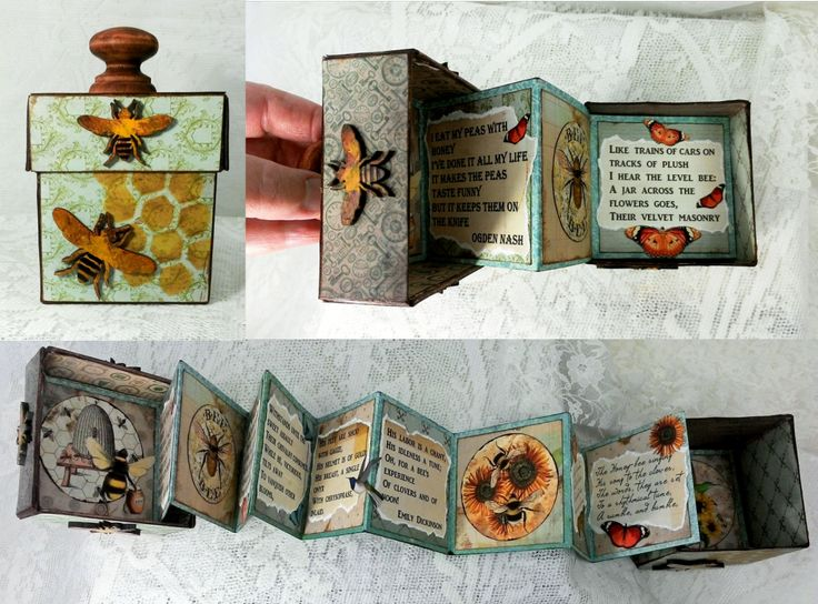 """Accordion Fold Book in a Box - Artfully Musing - To see more of my art, download free images, and learn new techniques checkout my Blog """"Artfully Musing"""" at http://artfullymusing.blogspot.com"""