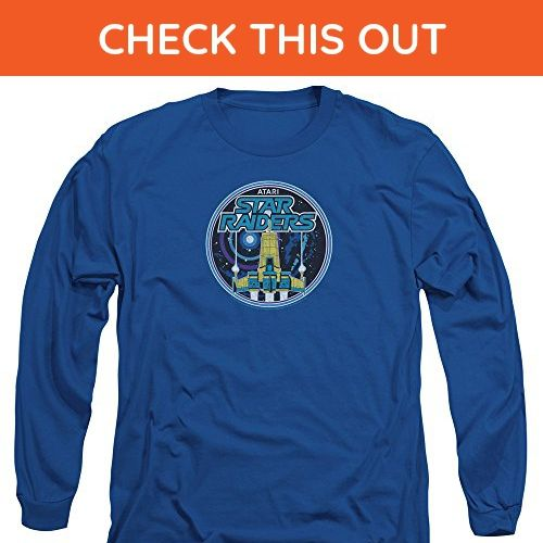 Atari Video Games Star Raiders Game Patch Adult Long Sleeve T-Shirt - Gamer shirts (*Amazon Partner-Link)