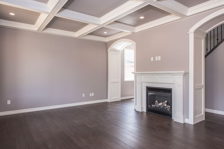 Box Ceiling & Trimmed Archways featured in the Wynchester model #detail #craftsmanship #greatroom #newhome #lndont